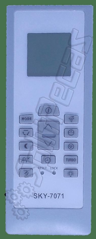 Controle Remoto sem fio do Ar Condicionado Electrolux 9.000 a 24.000 Btus LE-7071 PARALELO