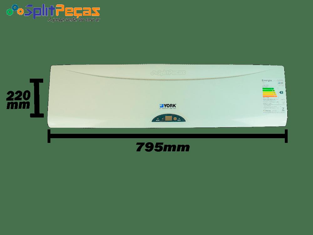 Painel Frontal do Ar Condicionado Split York 12.000 Btus YJKA12FS-ADK 220X795mm