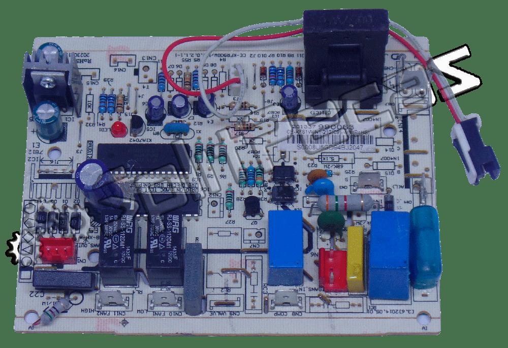 Placa da Condensadora Midea Carrier 22.000 Btus Fria 201337990063 202302130821