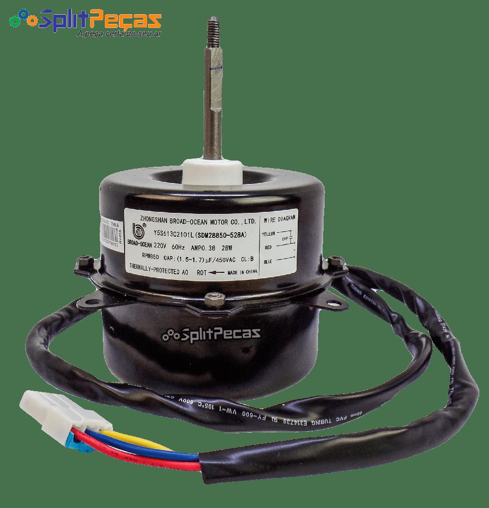 Motor Ventilador da Condensadora Samsung 9.000 e 12.000 Btus DB31-00528A