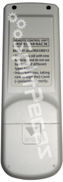 Controle Remoto do Ar Condicionado Fujitsu  9.000 e 12.000 Btus 9314990441