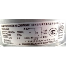 Motor Ventilado da Condensadora Brastemp e Consul  12.000 BTUS  W10275383