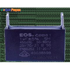 Capacitor Partida do Motor Ventilador 1uF ± 5%  SH 450VAC 50/60 Hz (2 Terminais)