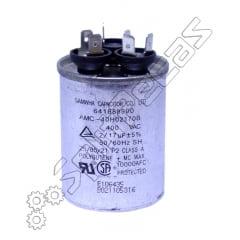 Capacitor de Partida  do Compressor e motor vent 17 +2 MF +- 5%  SH 400 V.AC 50/60 Hz  ( 3 Pólos )
