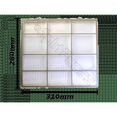 Filtro do Ar Condificonado Fujitsu 7.000 a 12.000 Btus 9316562011 280x310