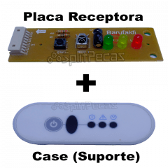 Kit Suporte + Placa Receptora Midea Carrier 18 a 60 Btus
